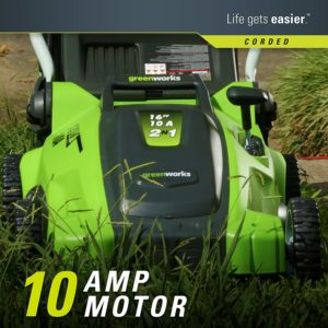 Greenworks 25142 16-Inch 10 Amp Corded Electric Lawn Mower