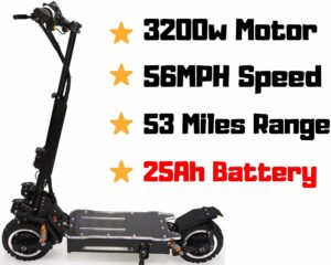 maxx OUTSTORM 56MPH Ultra High Speed Electric Scooter