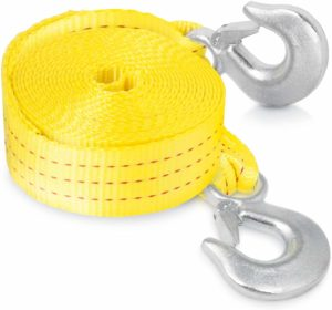 Neiko 51005A Heavy Duty Tow Strap with Safety Hooks