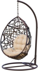 Christopher Knight Home 239197 Outdoor Wicker Tear Drop Hanging Chair
