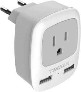 TESSAN European TravelPlug Adapter