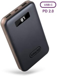 Imuto 10000mah Portable Charger Power Bank