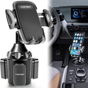 Upgraded TOPGO Universal Adjustable Cup Holder Phone Mount