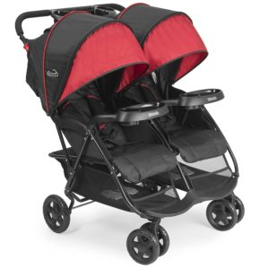 Kolcraft Double Jogging Stroller with Safety Mechanism